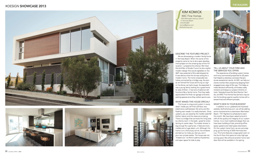 Featured in Southbay HOME II 2013